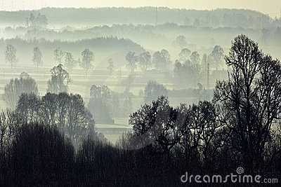 Morning mist - North Yorkshire - England