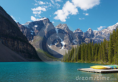 Morning on the Moraine Lake