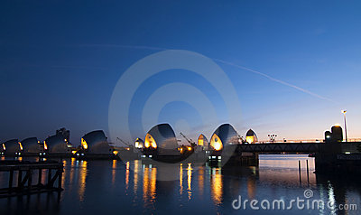 Morning Over The Thames Barrier Royalty Free Stock Photography - Image: 21948647