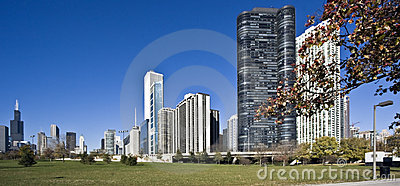 Morning panorama of Chicago