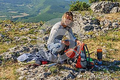 Morning at the peak of mountain