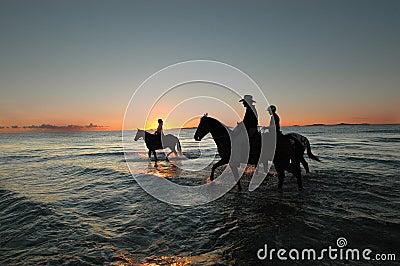 Morning ride along beach