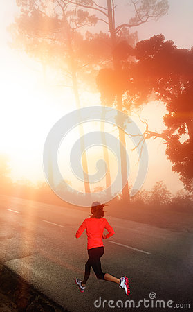 Morning run woman