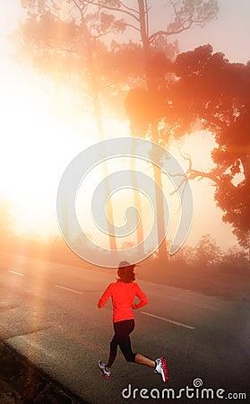 Morning run woman