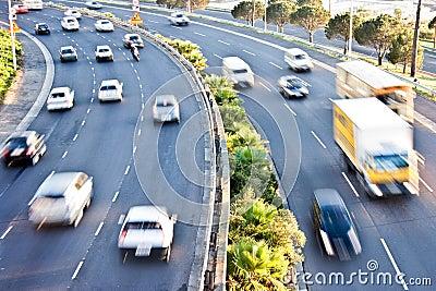 Morning rush-hour traffic