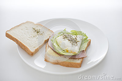 Morning sandwich showing content