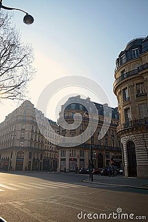 Morning scene in Paris Editorial Image