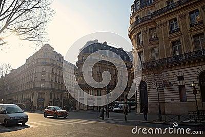 Morning scene in Paris Editorial Stock Image