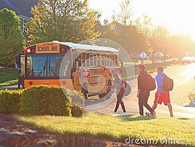 School Bus Editorial Stock Photo