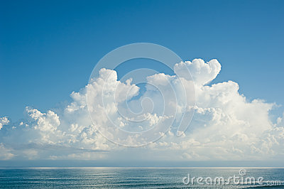 Morning sea and clouds