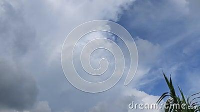 Morning sky en cloud time laping stock footage