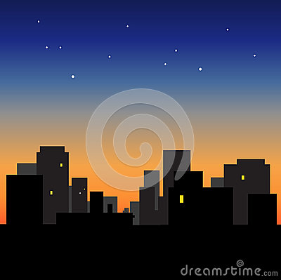 Morning sky over the roofs  Sunrise  Urban landscape  Dawn  Sunset