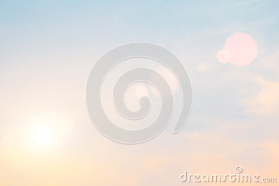 Morning sun light orange hot zone. Stock Photo