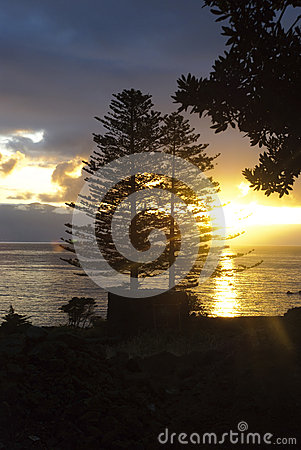 Morning sunrise at Azores islands