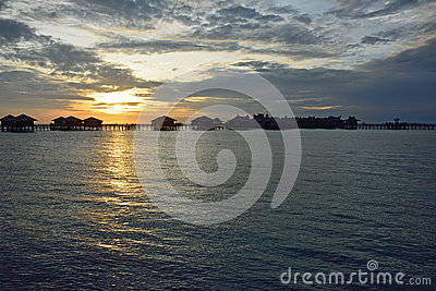 Morning sunrise in Sipadan village, Mabul-Sipadan