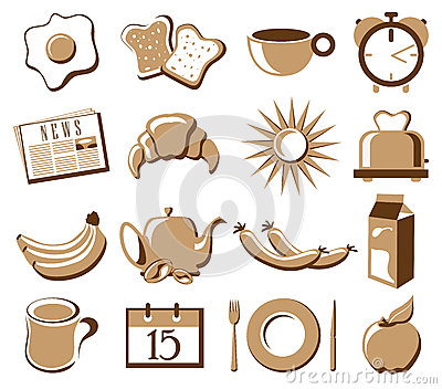 Morning symbol set