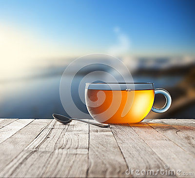 Free Morning Tea Cup Sky Background Stock Photos - 72518463
