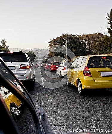 Free Morning Traffic Jam Blues Royalty Free Stock Image - 15386426