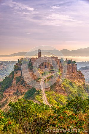 Free Morning View At The Old Town Civita Di Bagnoregio In Italy Royalty Free Stock Photos - 130757438