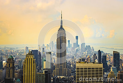 Morning view on New York City