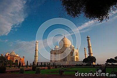 Morning view of Taj Mahal