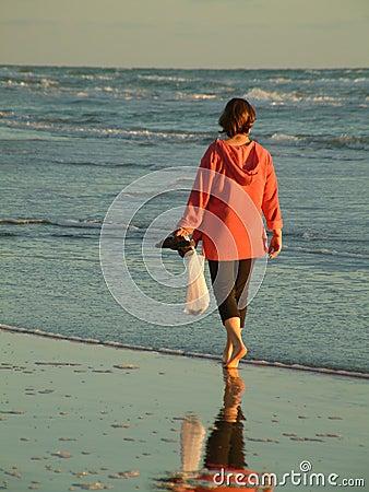 Morning walk on beach