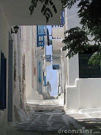 Morning walk, Mykonos, Greece