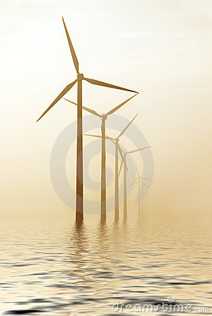 Free Morning Windmills Royalty Free Stock Photo - 7940705