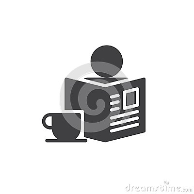 Free Morning With Newspaper And Cup Of Coffee Icon Vector Royalty Free Stock Photos - 102204558