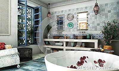 Moroccan Bathroom Royalty Free Stock Photo Image 28809205