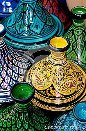 Moroccan Colorful Tagines