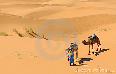 Moroccan Desert Scene Editorial Photography