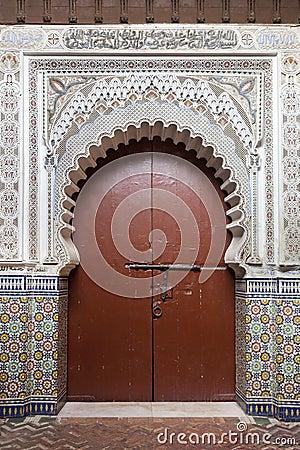 Moroccan entrance in Marrakesh