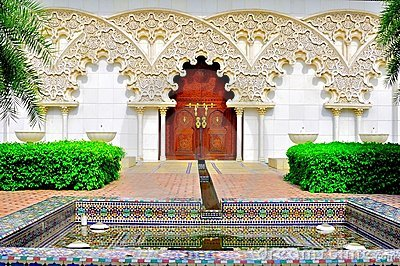 Moroccan garden and architecture