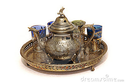Moroccan mint tea set