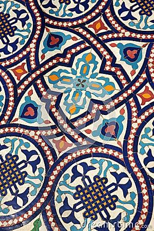 Moroccan mosaic tilework