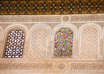 Moroccan stained glass window