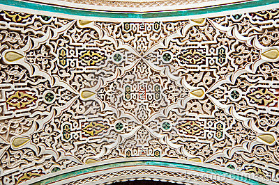 Moroccan style stucco background