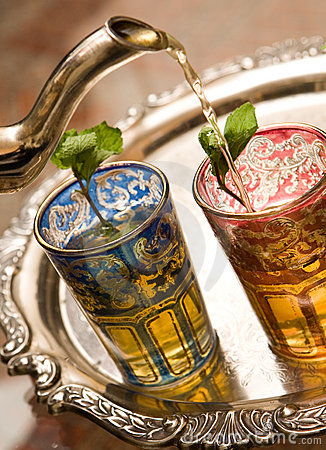 Free Moroccan Tea Cups Stock Image - 7064631