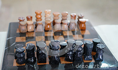 Moroccan unique handmade chess set in Tineghir