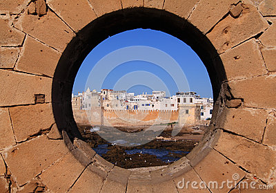 Morocco Essaouira from rampart - horizontal