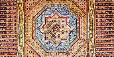 Morocco, Marrakesh: ceiling decoration