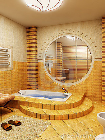 Morocco s style bathroom interioor