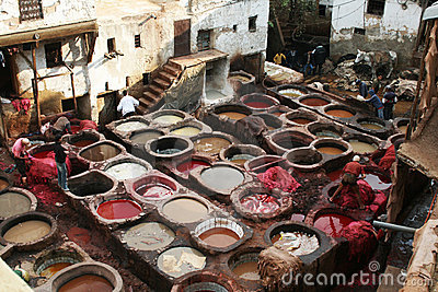 Morocco tannery Editorial Stock Image