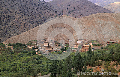 Morocco Village in Atlas Mountains