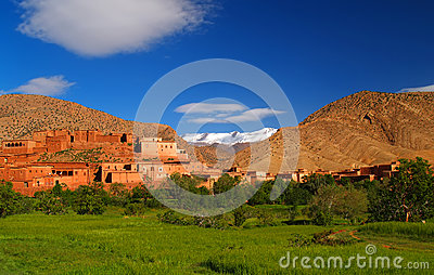 Morocco village in mountains