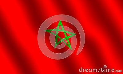 Moroccon flag Stock Photo