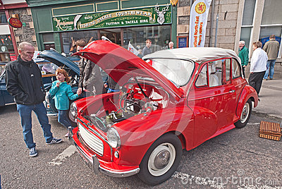 Morris 1000 open tourer at Motormania event Editorial Stock Photo