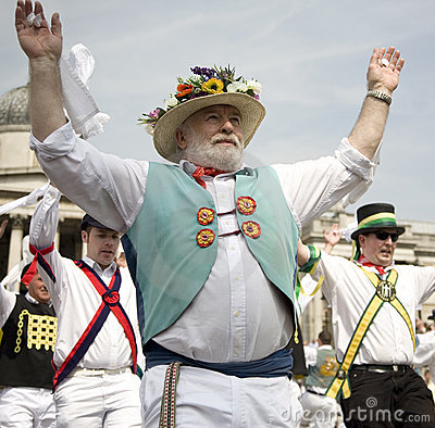 Morris dancer Editorial Stock Image