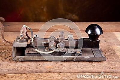 Morse code on telegraph